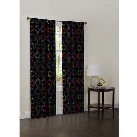 Your Zone Circle Dot Kids Bedroom Curtain (Dotted Circles Jacquard)