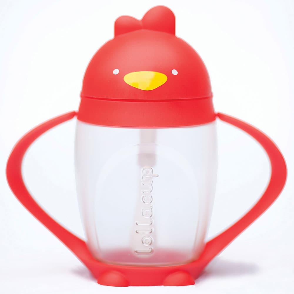 Lollacup Infant And Toddler Straw Cup, 2 Pack Red by Lollacup