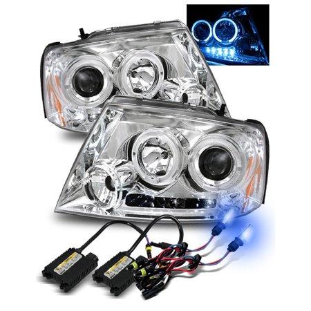 10000k Hid For 04 08 F150 06 08 Mark Lt Led Halo Projector Headlights Chrome