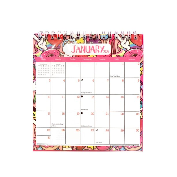Desk Calendar for The Year 2021, Academic Desk Calendar ...