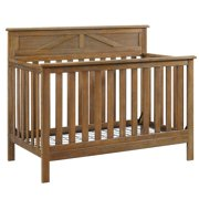 Baby Relax Hathaway 5-in-1 Convertible Crib, Rustic Coffee