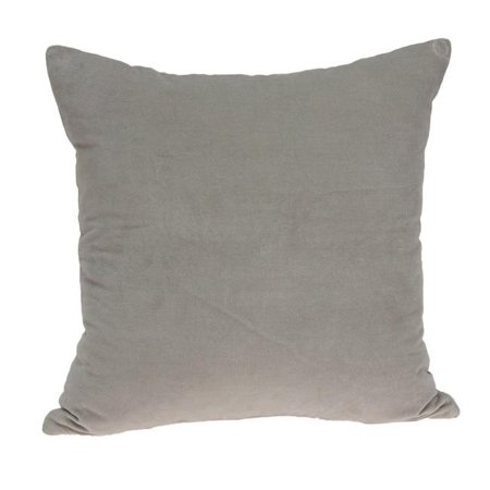 Parkland Collection PILE11197P Emma Grey Square Transitional Pillow Cover with Poly Insert - 18 x 18 x 7 in. - image 1 of 1