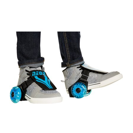 Neon Vybe Heel Skates Street Roller Blue for Kids, with LED light-up wheels