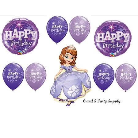 PURPLE SOFIA THE FIRST PARTY Balloons Decorations Supplies Disney, Sofia The First Princess Birthday Balloons Decorations Supplies By Anagram - Sofia The First First Birthday