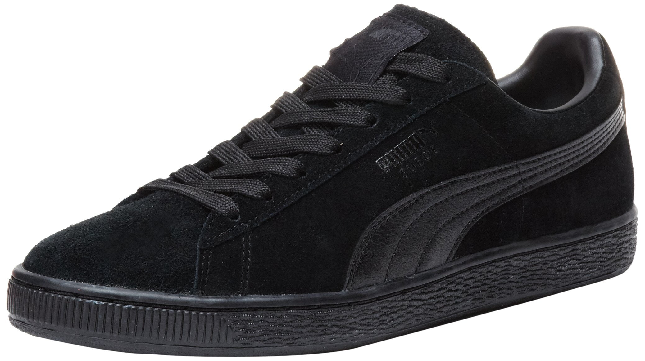 PUMA 356328-01: Suede Classic Black Black Leather Formstrip Sneaker (13 D(M) US) by PUMA Footwear