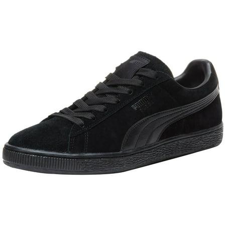 PUMA 356328-01: Suede+ LFS Classic Black/Black Leather Formstrip Sneaker (13 D(M) (Black Pink Puma Shoes)