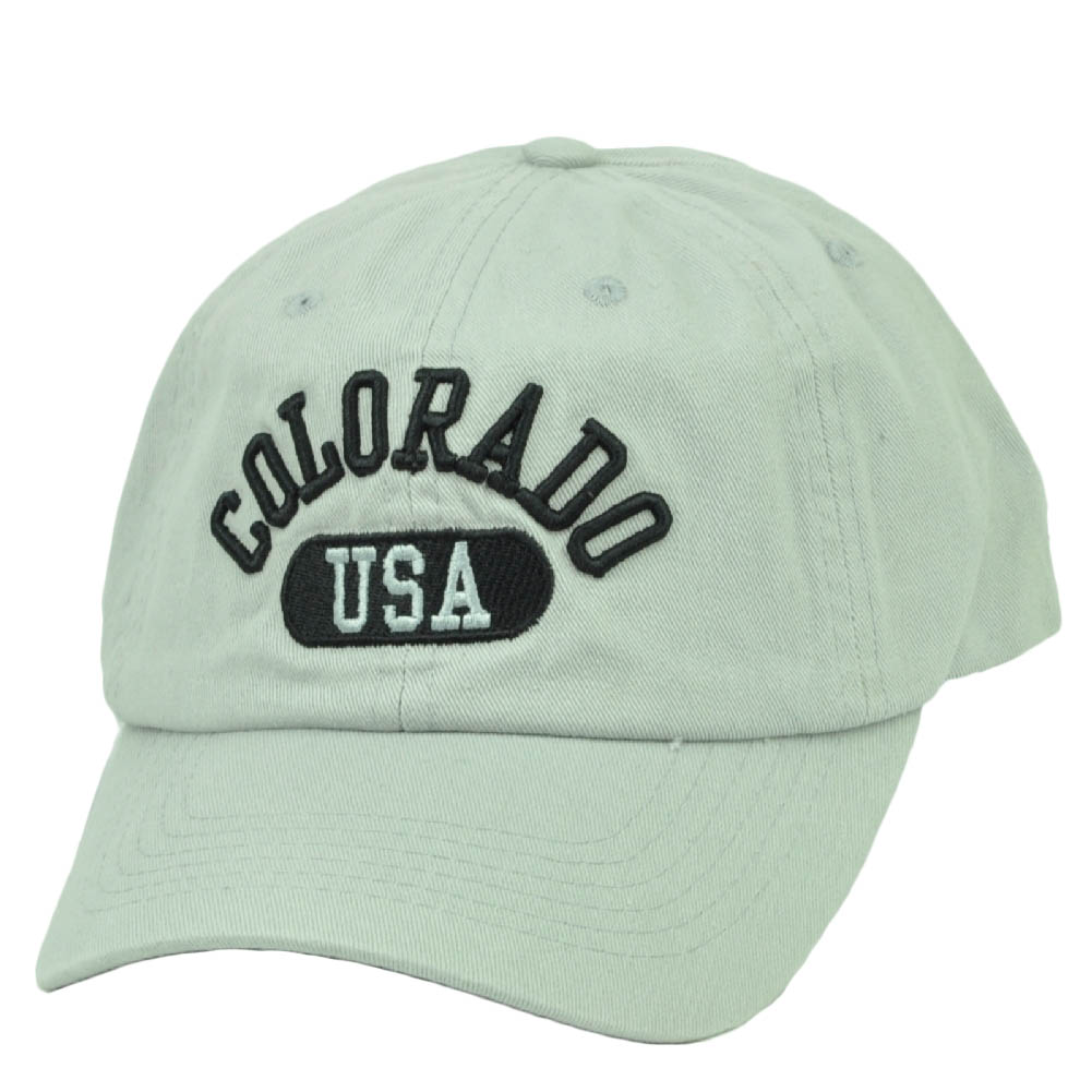 Colorado USA Centennial State City Town Relaxed Gray Adjustable Hat Cap America