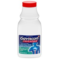 Gaviscon Extra Strength Cool Mint Liquid Antacid for Fast-Acting Heartburn Relief, 12 ounce