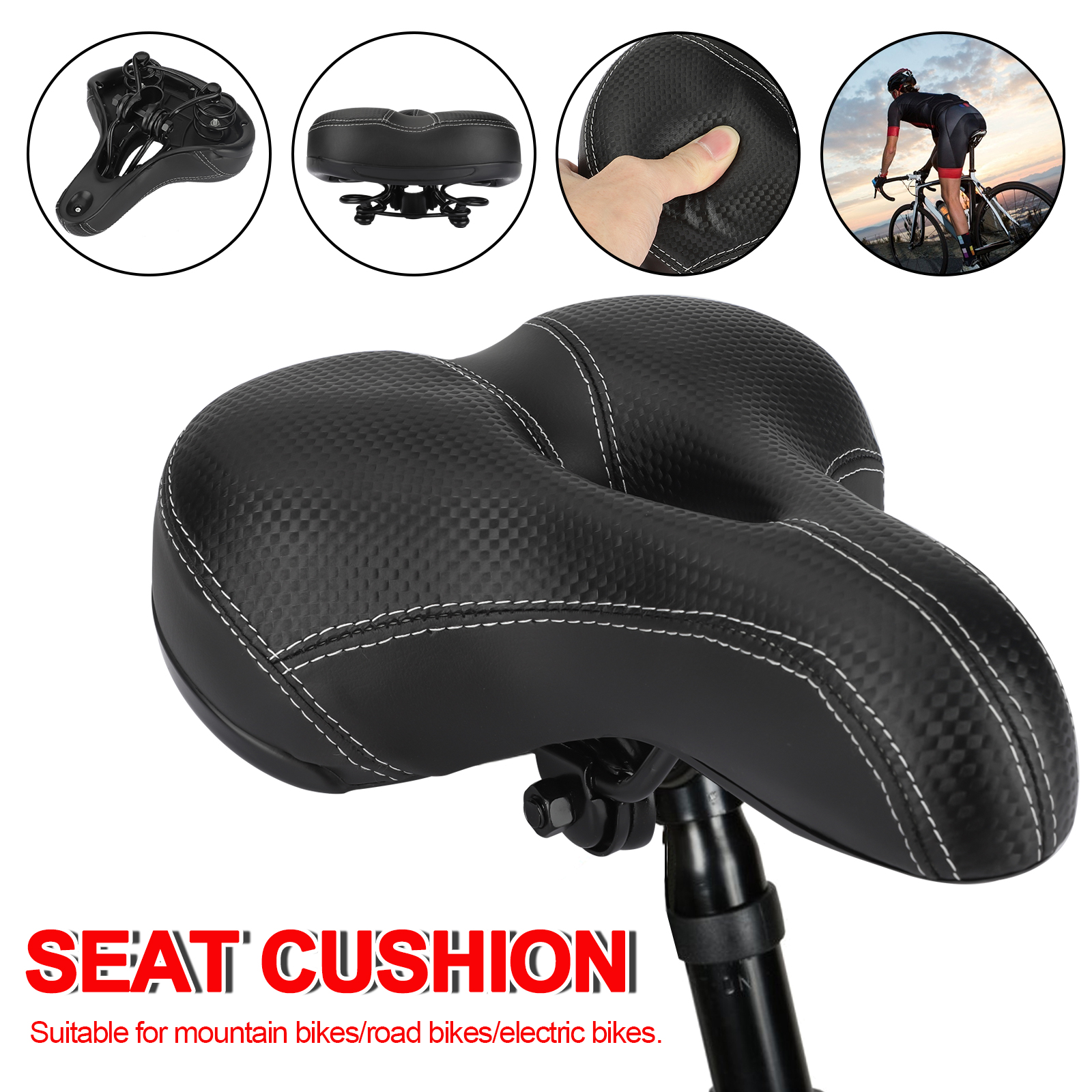 Fit Bike Universal Comfortable Replacement Bicycle Saddle Cover Seat Waterproof