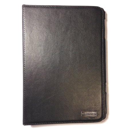 Leather Micro Mini (Members Only Genuine Leather Stand Up Portfolio Case Cover For Apple iPad Mini Black - Retail Packaging)