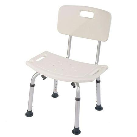 Ktaxon 8 Height Adjule Medical Shower Bath Chair Detachable Backrest Bathtub Stool
