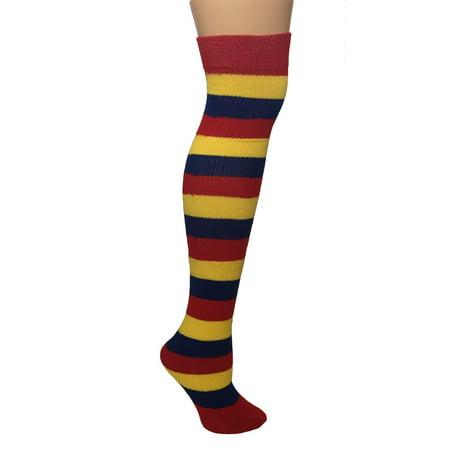 0e03e88effd AJs - AJs Adult Striped Socks - Red Lemon Blue - Walmart.com