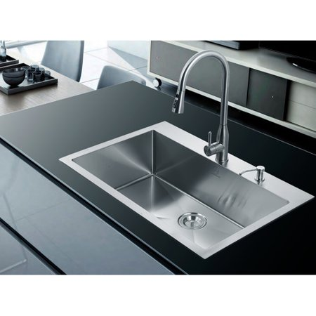 dCOR design Greenport 33\'\' x 22\'\' Overmount Kitchen Sink - Walmart.com