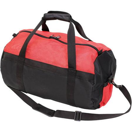 Stansport Mesh Top Sport Bag, Red/Black