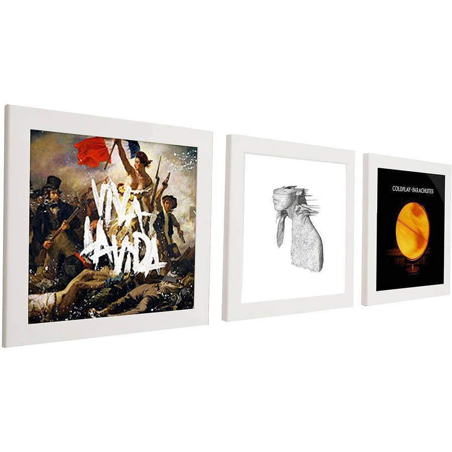 Pinnacle White Triple Pack Vinyl Record Frame