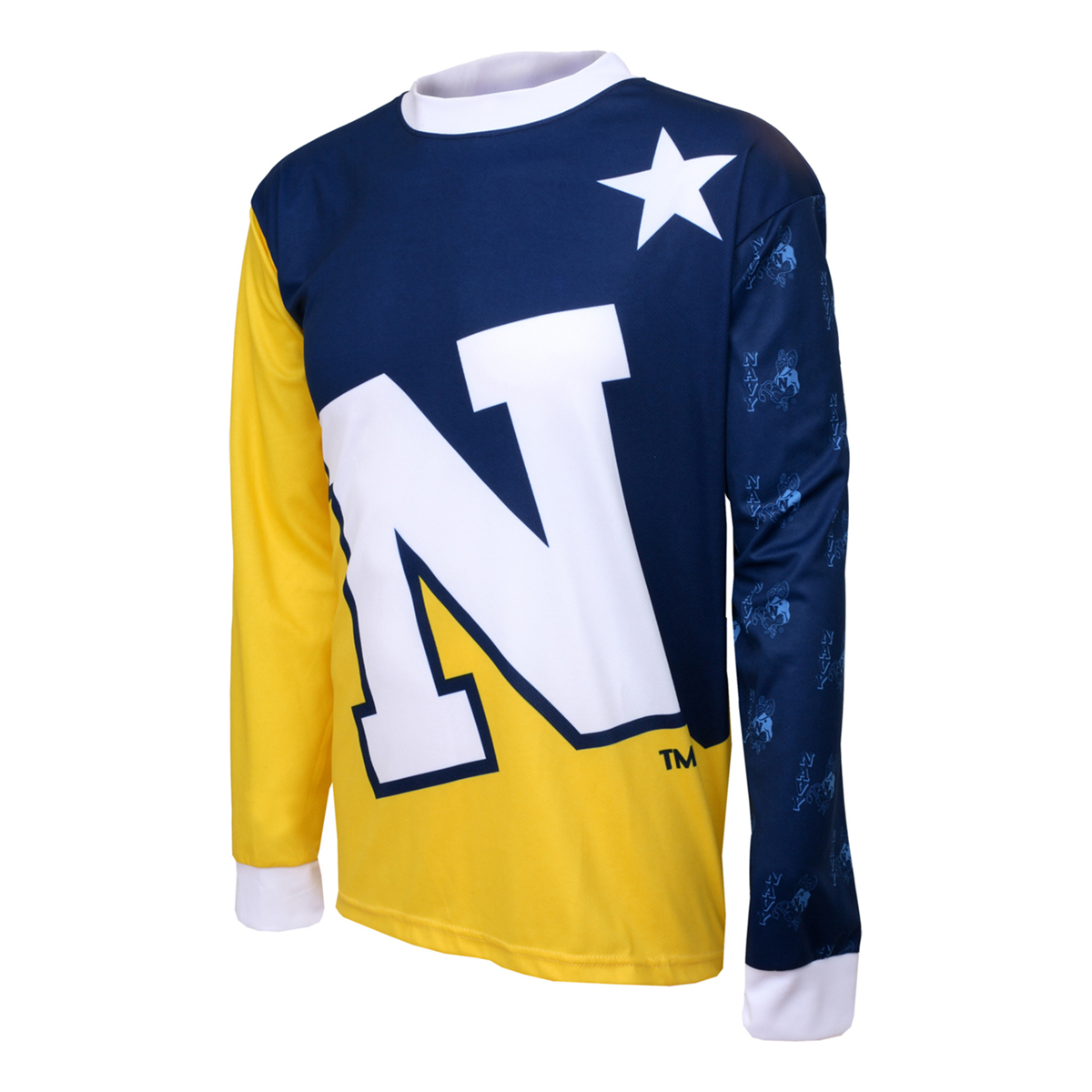 Adrenaline Promotions United States Naval Academy Long Sleeve Mountain Bike Jersey