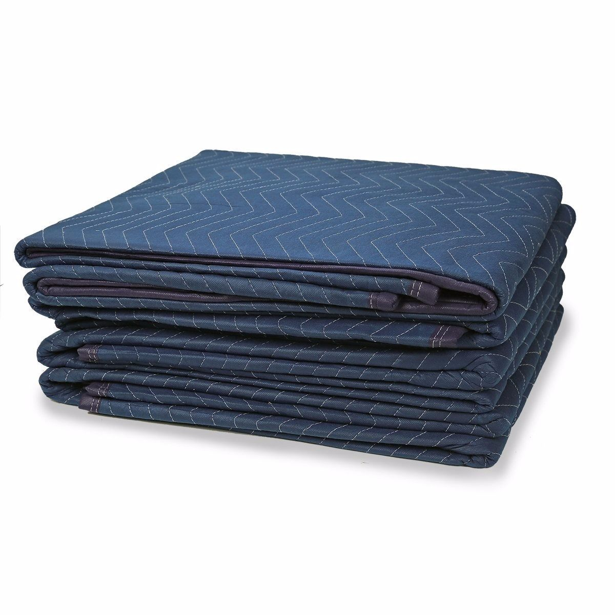 """GHP Pack of 12 72""""x80"""" Spun Bond Non-Woven Cloth 3-Lbs Packing Moving Blankets"""
