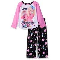 Nickelodeon Girls' Big JoJo 2-Piece Pajama Set, Sweets Swagger, 10