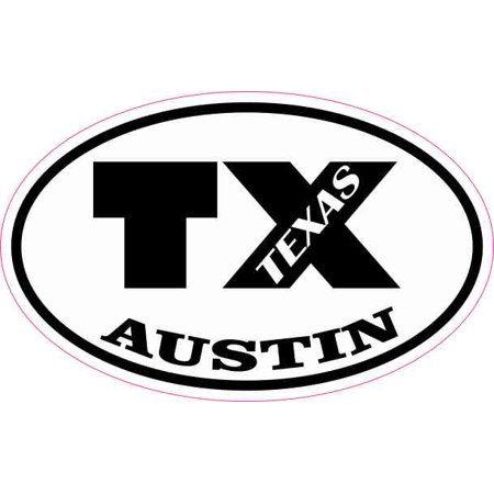 4in x 2.5in Oval TX Austin Texas - Costume Stores In Austin Tx