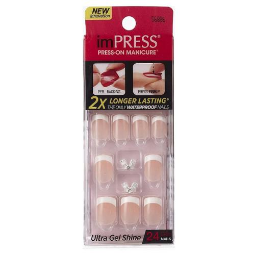 KISS Broadway Nails Impress Press-On Manicure Kit, Rock It 24 ea (Pack of 4)