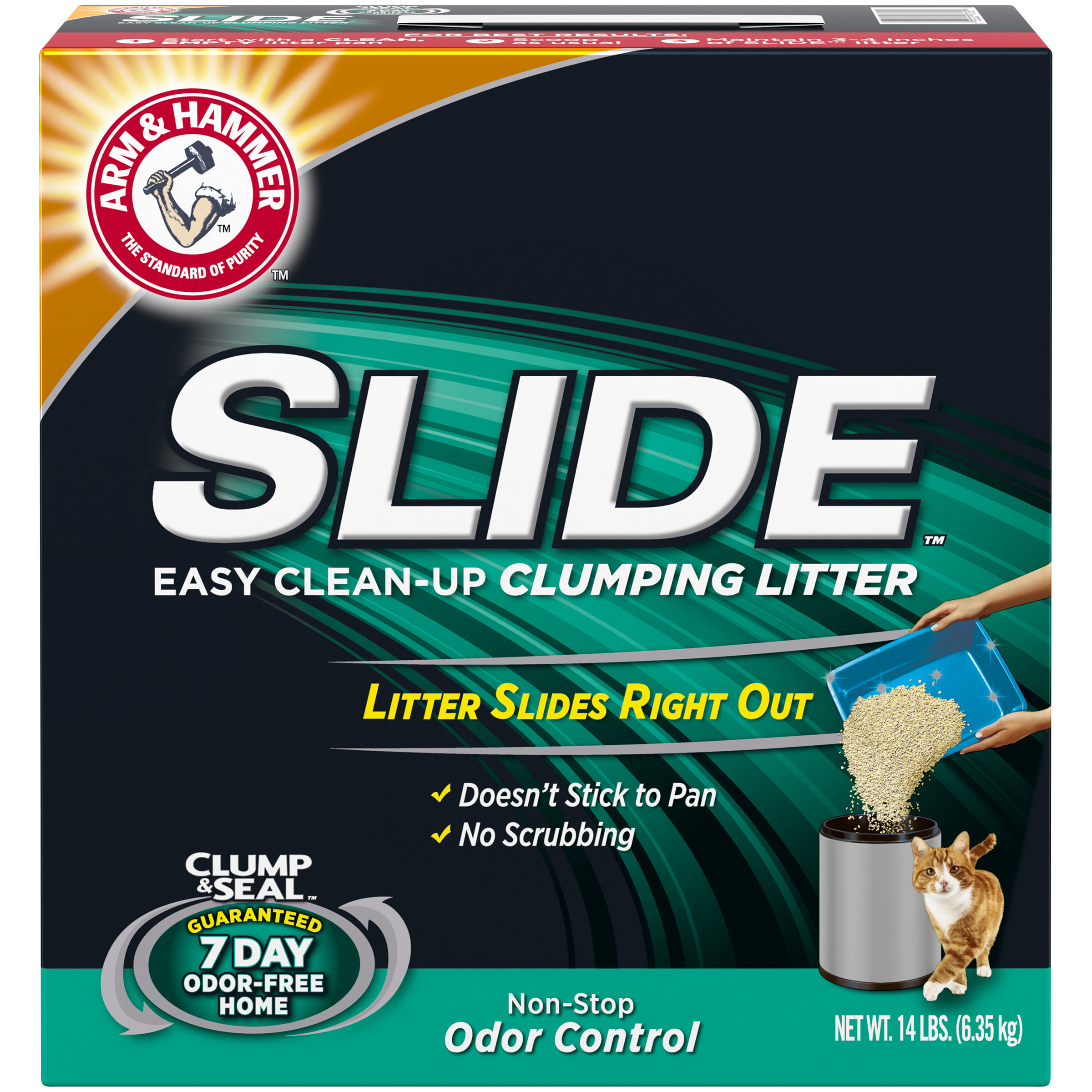 Arm & Hammer Slide Easy Clean Up Clumping Cat Litter, 14-lb