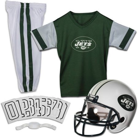 New York Jets Football Jersey (Franklin Sports NFL New York Jets Youth Licensed Deluxe Uniform Set, Small )