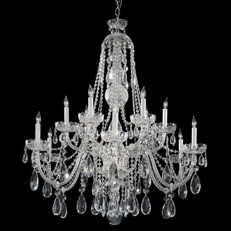 Crystorama 1114-CH-CL-SAQ 12 Light Chandelier by Crystorama
