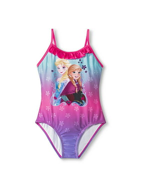 7eace4747af34 Free shipping on orders over $35. Product Image Disney Frozen Anna Elsa One  Piece Swimsuit Girl Size M 7/8