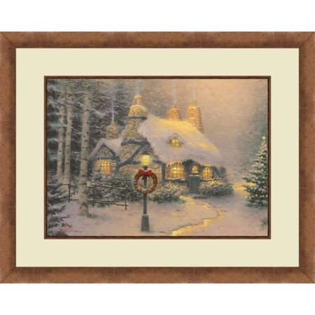 Thomas Kinkade, Stoneheart Hutch-Gold Colored Frame, 20x16 Decorative Wall Art