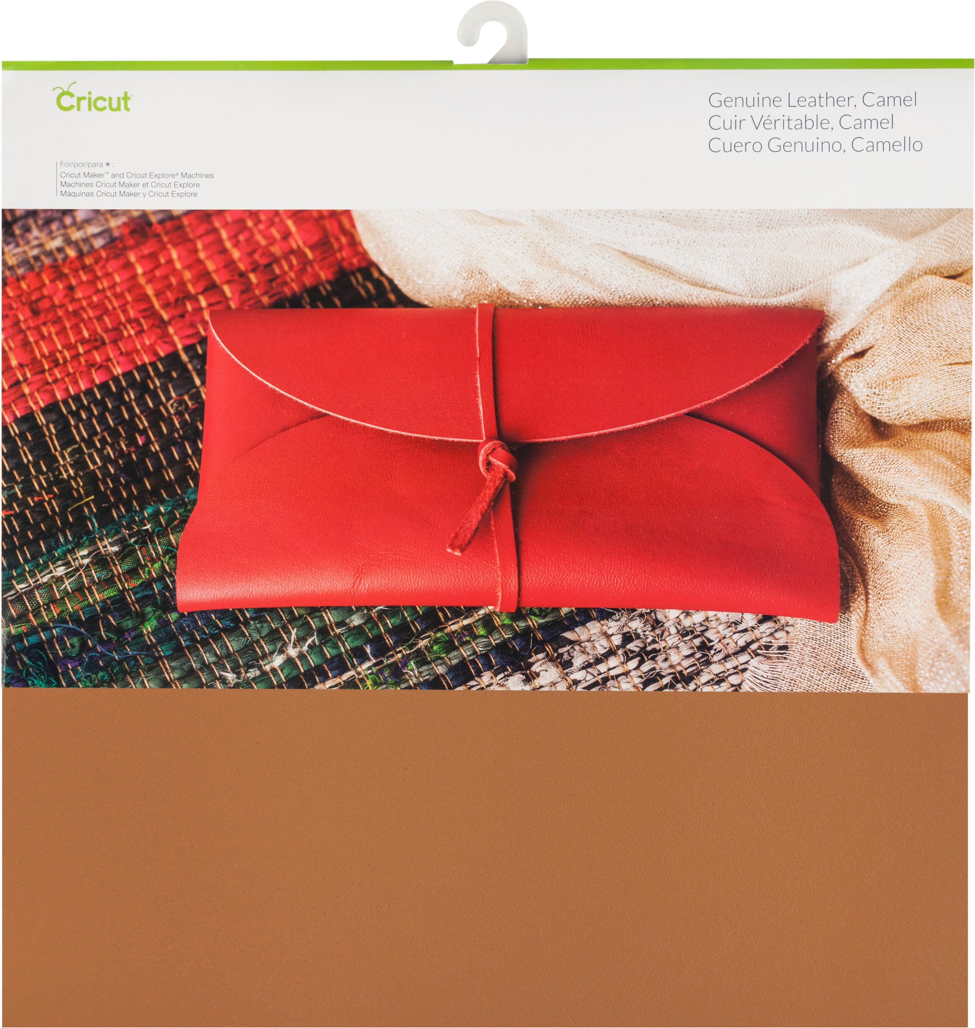 "Cricut Maker Genuine Leather 12""X12""-Camel"