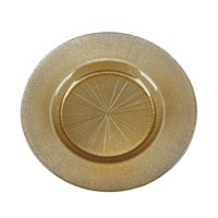"Set Of 2 RITZ 8.5"" GOLD SILVER GLITTER SALAD PLATES"