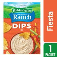 (4 Pack) Hidden Valley Fiesta Ranch Dips Mix, Gluten Free - 1 Packet