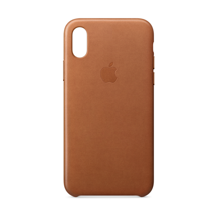 online store 26c89 303f9 Apple Leather Case for iPhone X - Saddle Brown