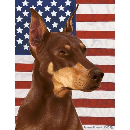 Doberman Cropped Red - Best of Breed Patriotic II Garden