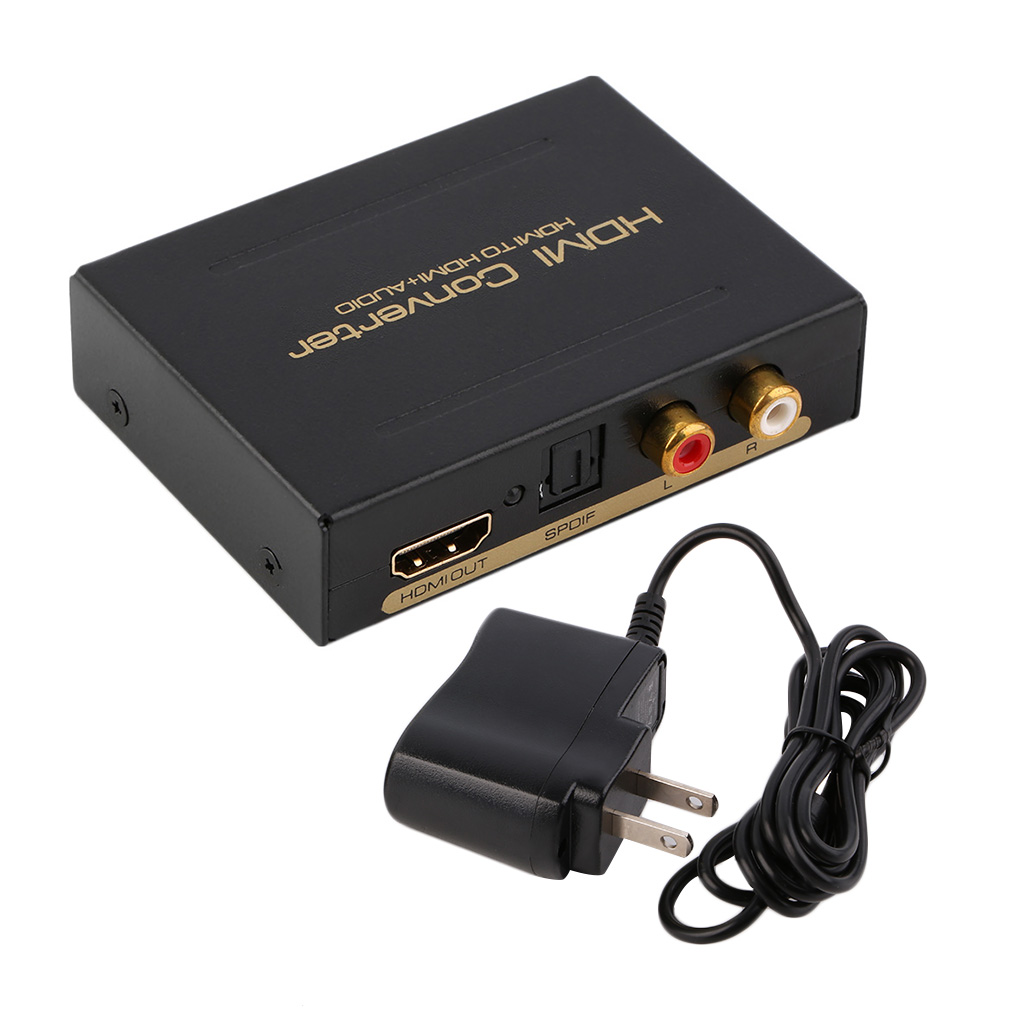 HDMI Audio Extractor Splitter to SPDIF RCA Stereo L/R Analog Output Converter
