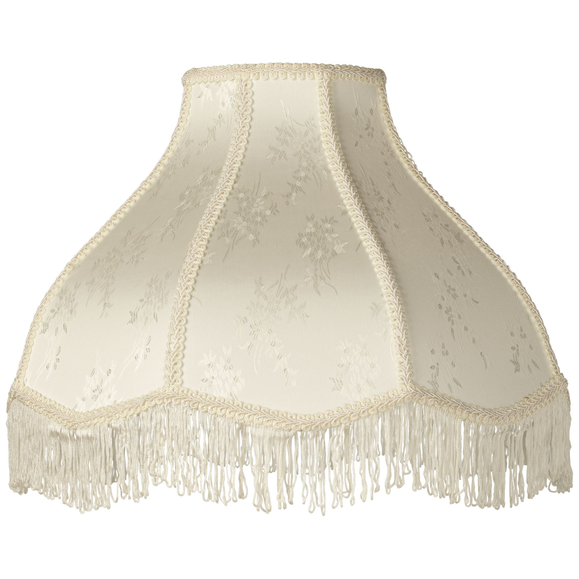 Brentwood Creme Scallop Lamp Shade Fringe Harp Included 6x17x12x11 - Spider