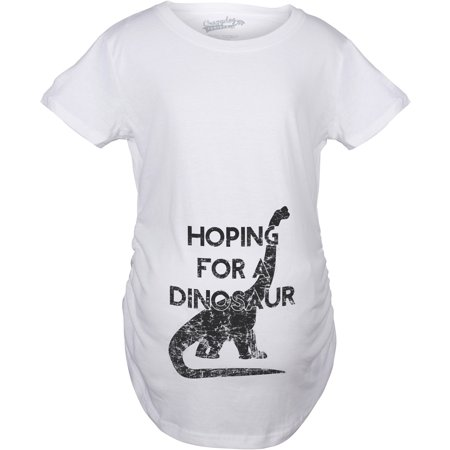 cb567df6b Maternity Hoping For a Dinosaur Funny Baby Pregnancy Announcement T shirt