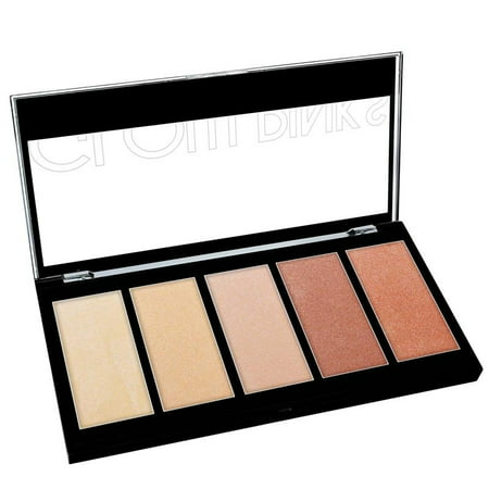 KLEANCOLOR 5 Color Prismatic Highlighter Palette - Glow - Do Highlighters Glow In Blacklight