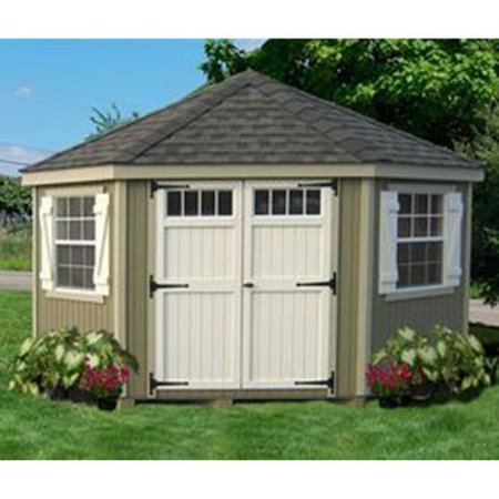 Little cottage 10 x 10 ft 5 sided colonial panelized for Garden shed 10x10