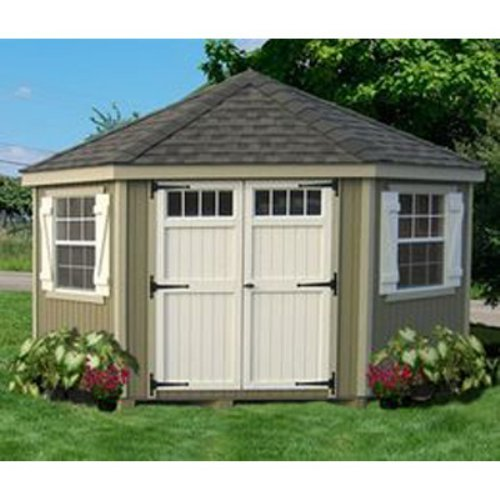 Little Cottage 10 x 10 ft. 5-Sided Colonial Panelized Garden Shed