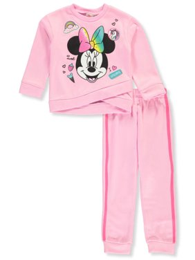 Disney Minnie Mouse Girls' I Love Unicorns 2-Piece Sweatsuit Pants Set