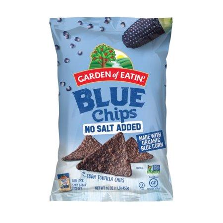 Garden of Eatin' No Salt Added Blue Corn Tortilla Chips, 16 oz. - Organic Blue Corn Tortilla