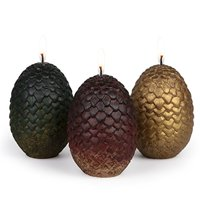 """Game of Thrones Sculpted Dragon Egg Candles, Set of 3 for Got Fans - 2 1/2"""" each"""