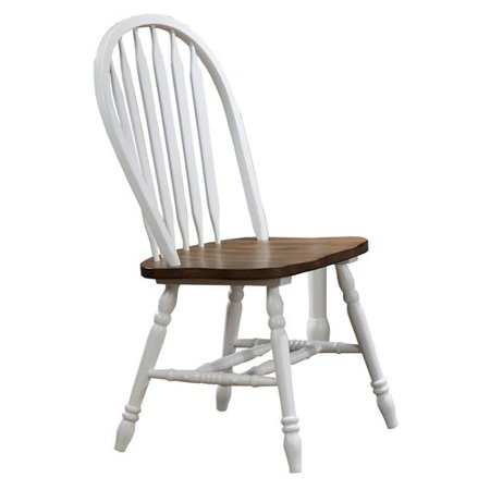 (Charlton Home Lyndsey Arrow Back Solid Wood Dining Chair (Set of 2))