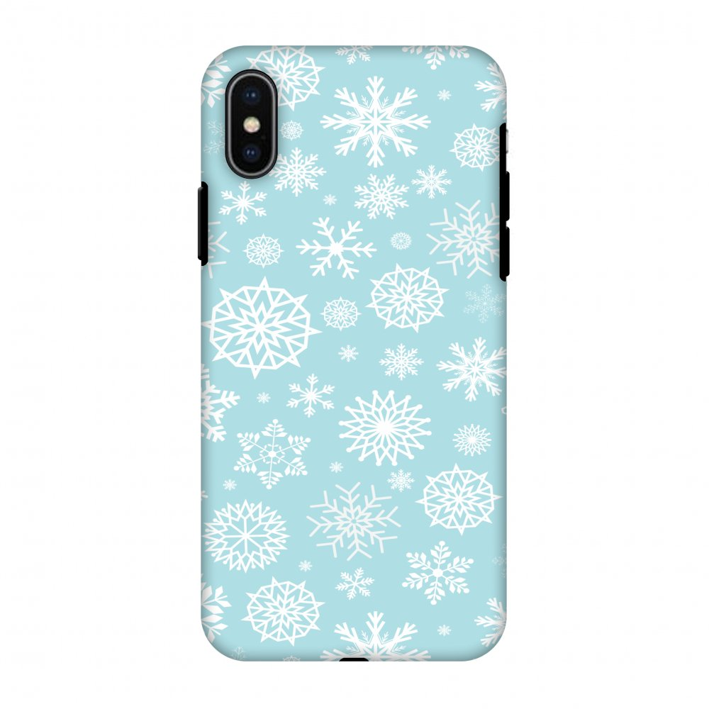 iPhone X Case, Premium Heavy Duty Dual Layer Handcrafted Designer Case ShockProof Protective Cover with Screen Cleaning Kit for iPhone X - Winter Feels, Flexible TPU, Hard Shell