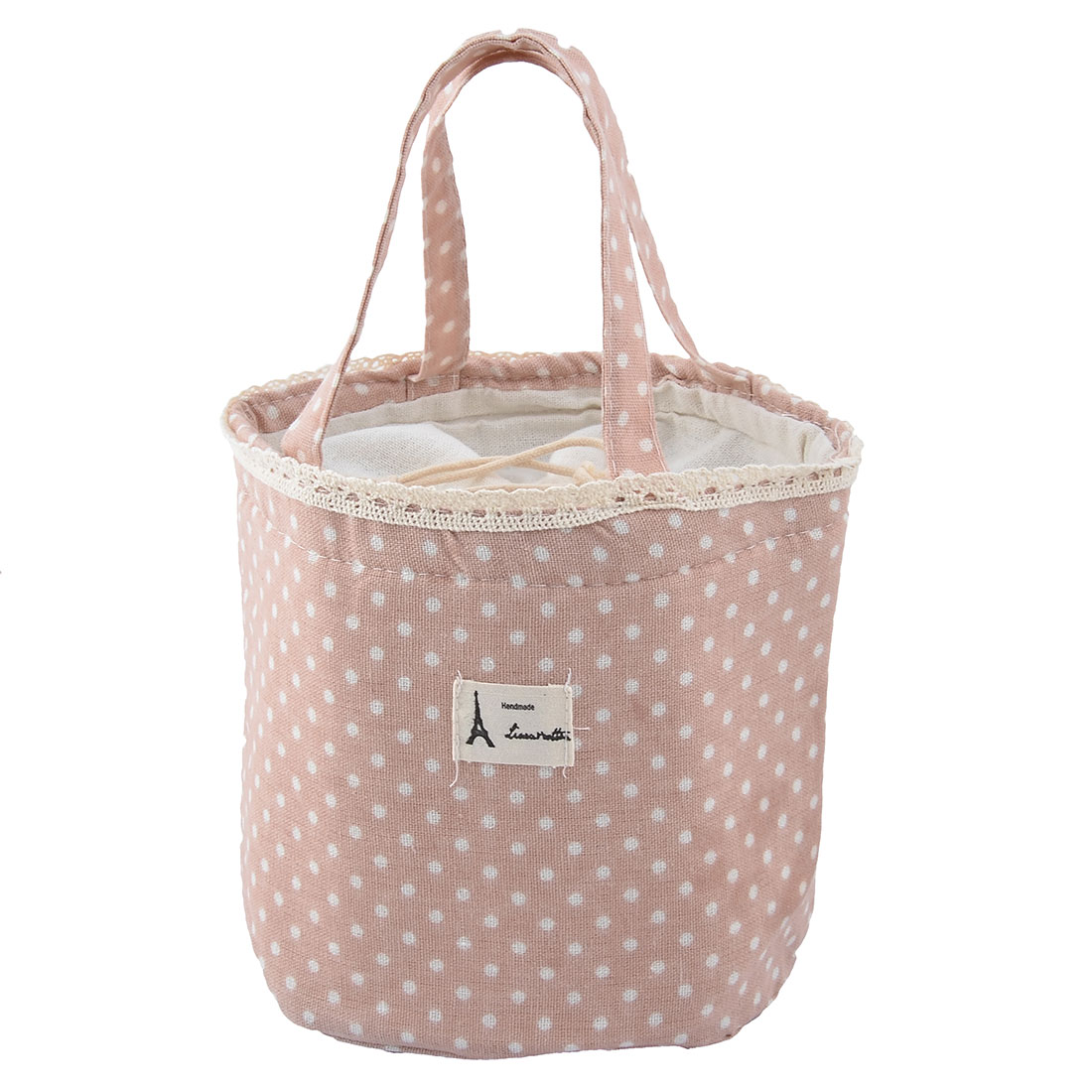 Cotton Linen Picnic Thermal Insulated Aluminum Foil Lunch Bag Cooler Tote