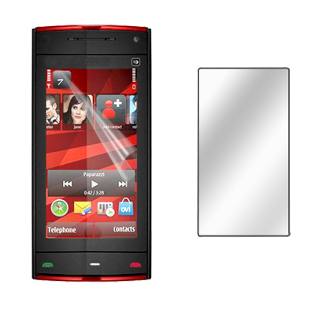 Transparent Screen Protector Guard for Nokia X6