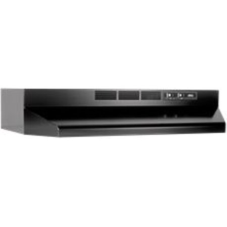 Broan 30-Inch 2-Speed Under-Cabinet Range Hood, Black, 160 Cfm