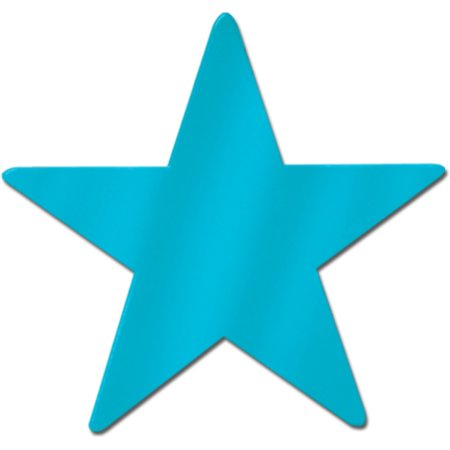 Foil Star Cutout Turquoise -9