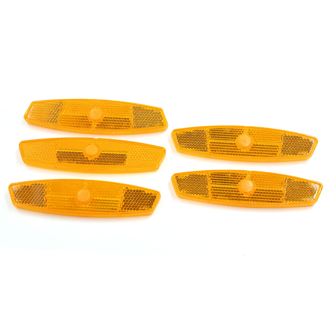 5pcs Orange Plastic Clip-on Reflective Warning Reflector for Bike Bicycle